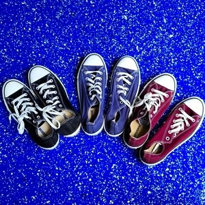 Bundle of 3 Converse Chuck Taylor All Star Shoes